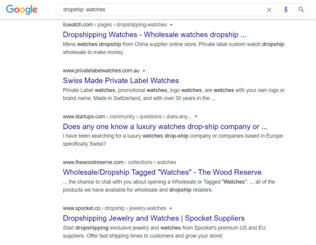 how to sell watches online - dropship watches