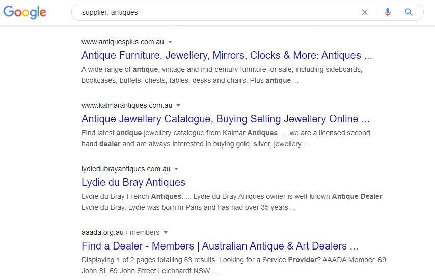 sell antiques online - antiques supplier