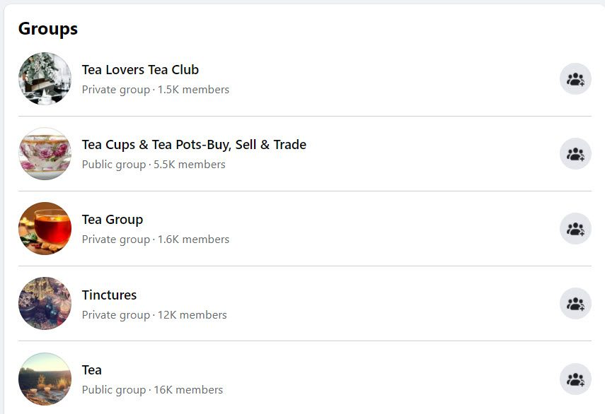 how to sell tea online - groups