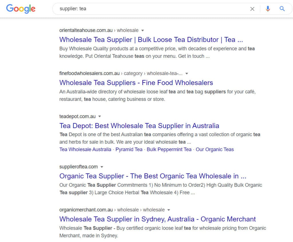 how to sell tea online - supplier