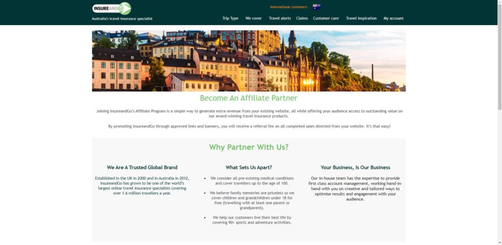 travel insurance affiliate programs - Insure and Go affiliate