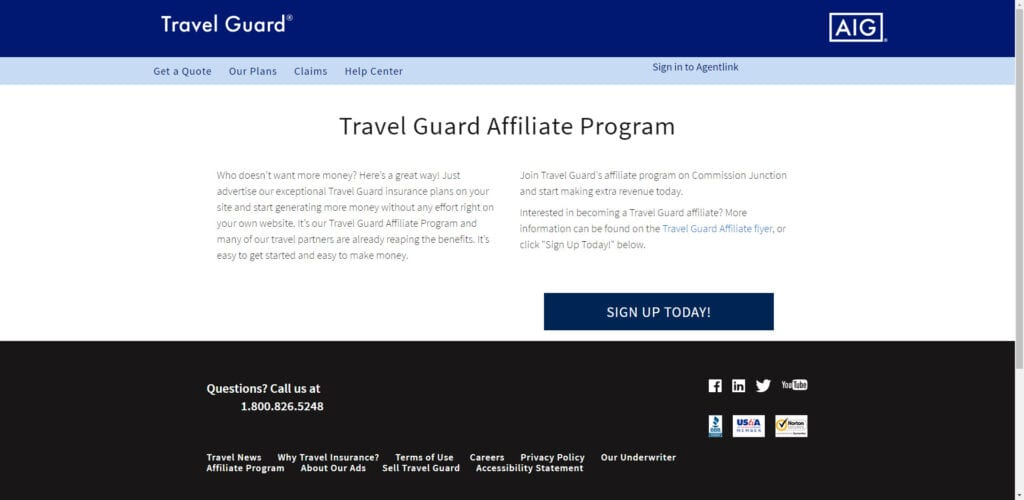 travel insurance affiliate programs - Travel Guard affiliate