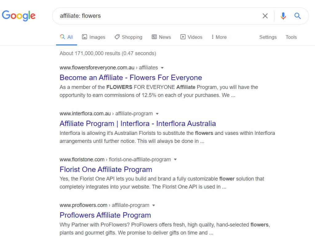 How To Make Money Selling Flowers Online - affiliate programs