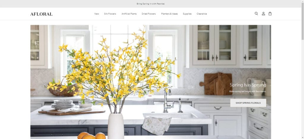 flowers affiliate programs - Afloral home