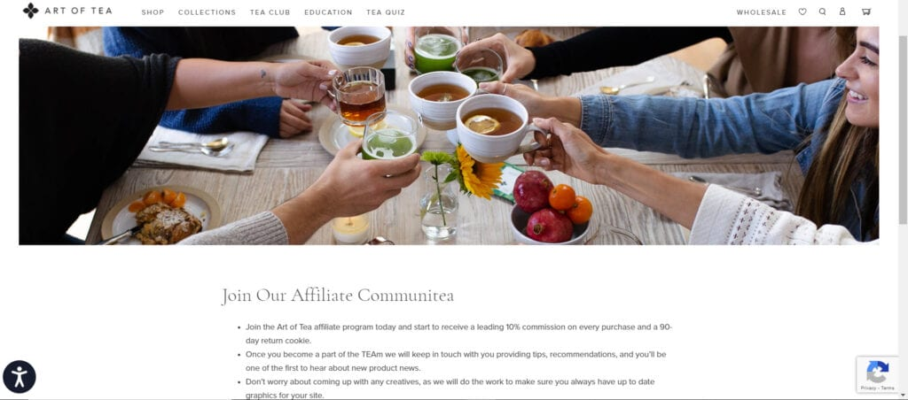 tea affiliate programs - Art of Tea affiliate