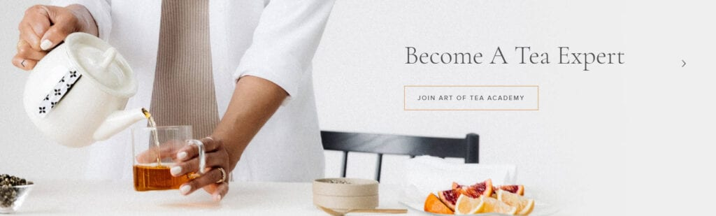 tea affiliate programs - Art of Tea stripe