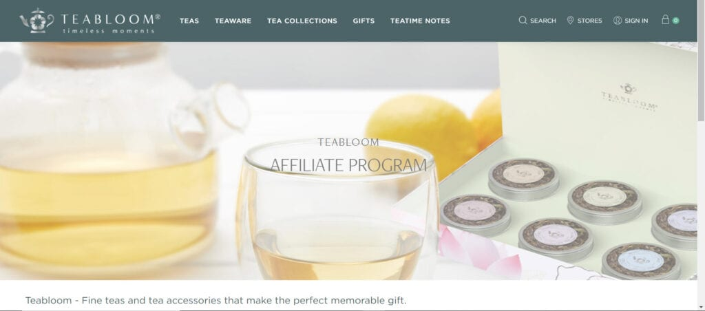 tea affiliate programs - Teabloom affiliate