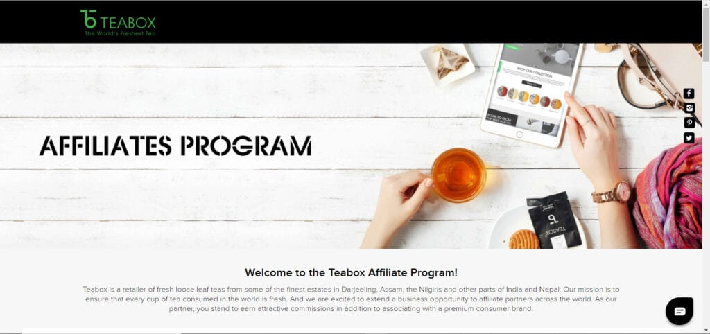 tea affiliate programs - Teabox affiliate