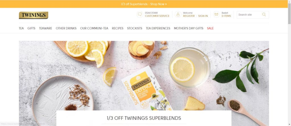 tea affiliate programs - Twinings