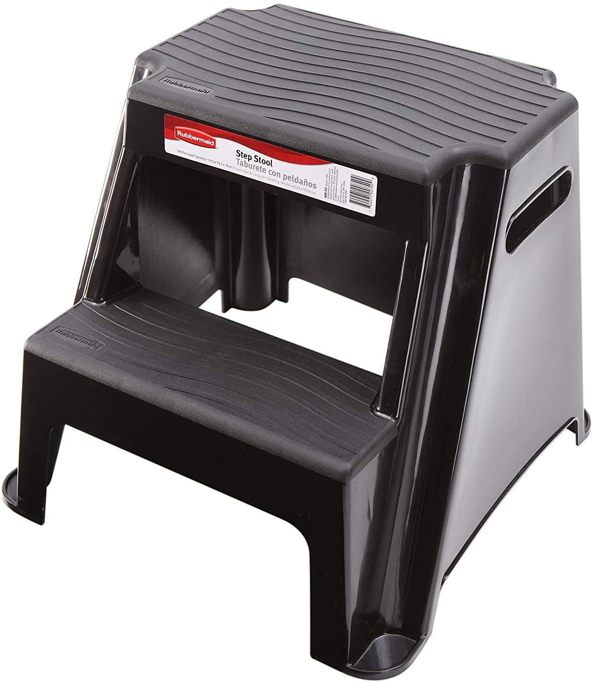 Rubbermaid-RM-P2-2-Step-Molded-Plastic-Stool-with-Non-Slip-Step