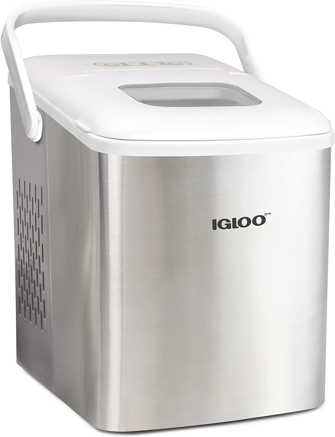 igloo-ICEB26HNSSWL-Stainless-Steel-Automatic-Self-Cleaning-Portable-Electric-Countertop-Ice-Maker-Machin