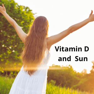 girl standing in the sun to get vitamin D