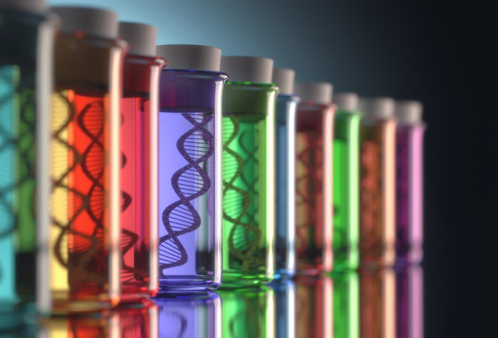 different colors of test tubes