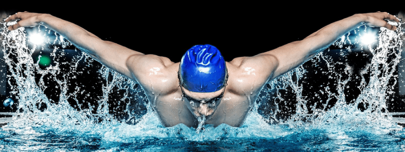 an endurance athletic swimmer