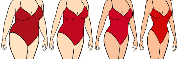 weight loss in red swaimsuit