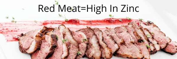 zinc in red meat for acne