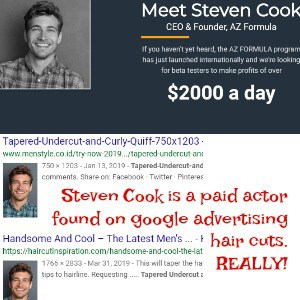 STEVEN COOK paid actor