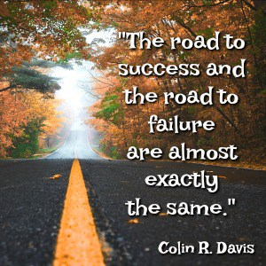 quote by collin davies the road to success