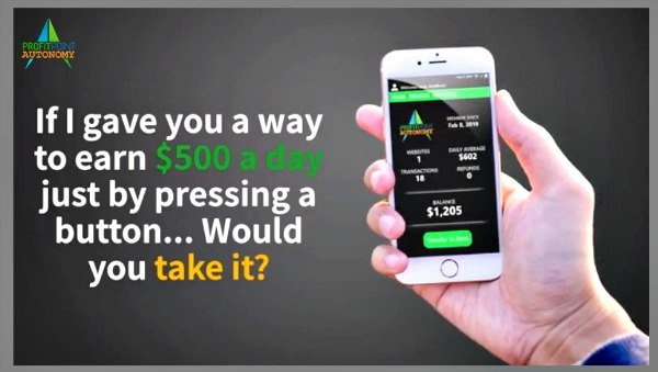 Profit Point Autonomy Review-Automated Done For You $500 A Daypromises from a scam