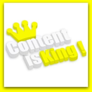 yellow content is king on white background
