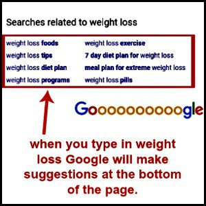 google suggestions for weight loss