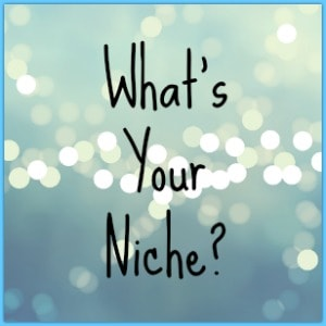 words what's your niche? on a sparkely background