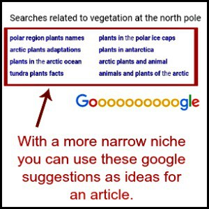 north pole suggestions on google