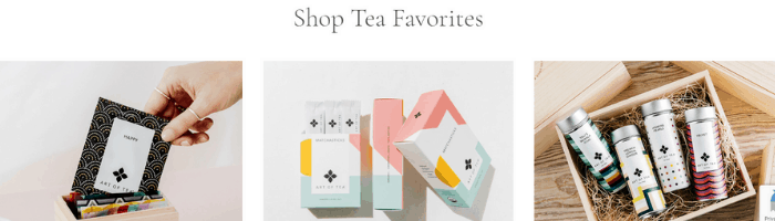 products of art of tea