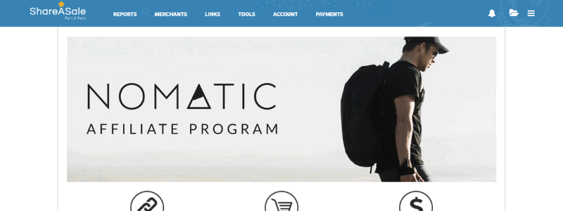 nomatic affiliate page