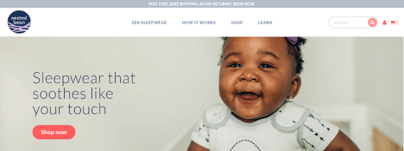 nested bean home page