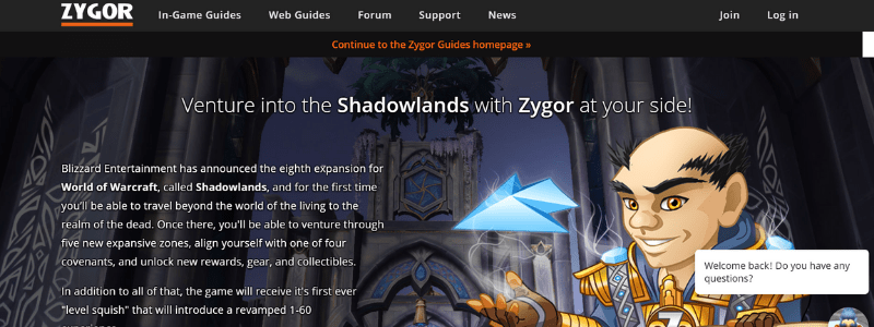 zygor home page