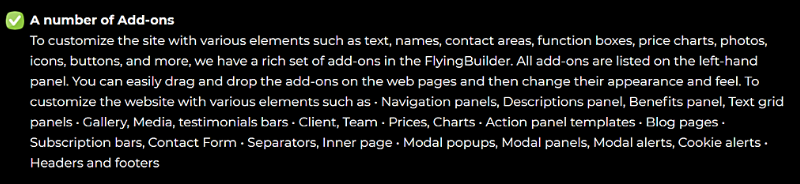 Flying Builder Review add ons
