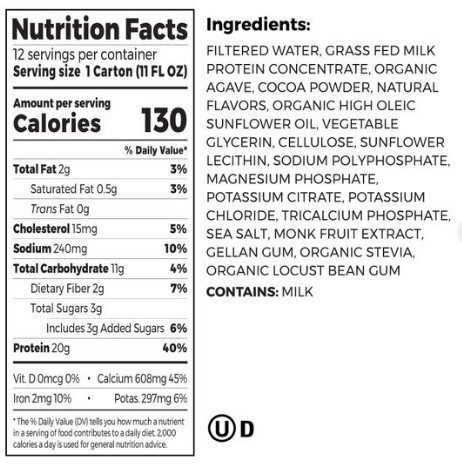 THE BEST PROTEIN SHAKE-an organic review - ingredient list