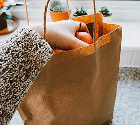 online grocery delivery - brown bag photo