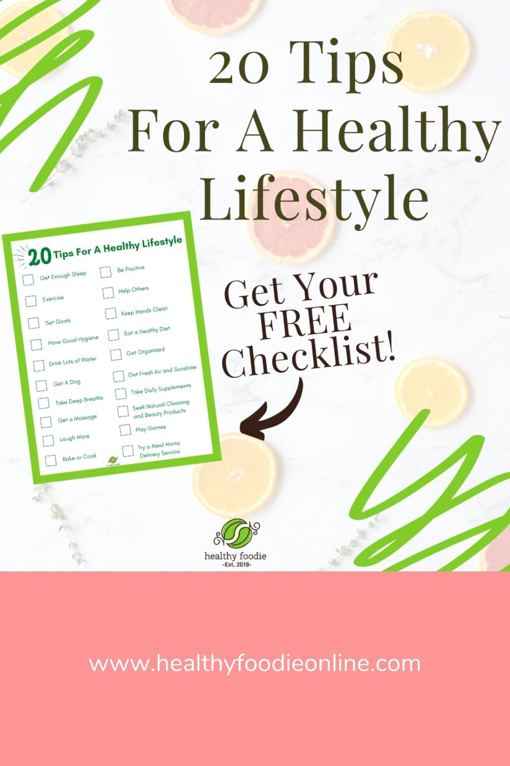 20 tips for a healthy lifestyle