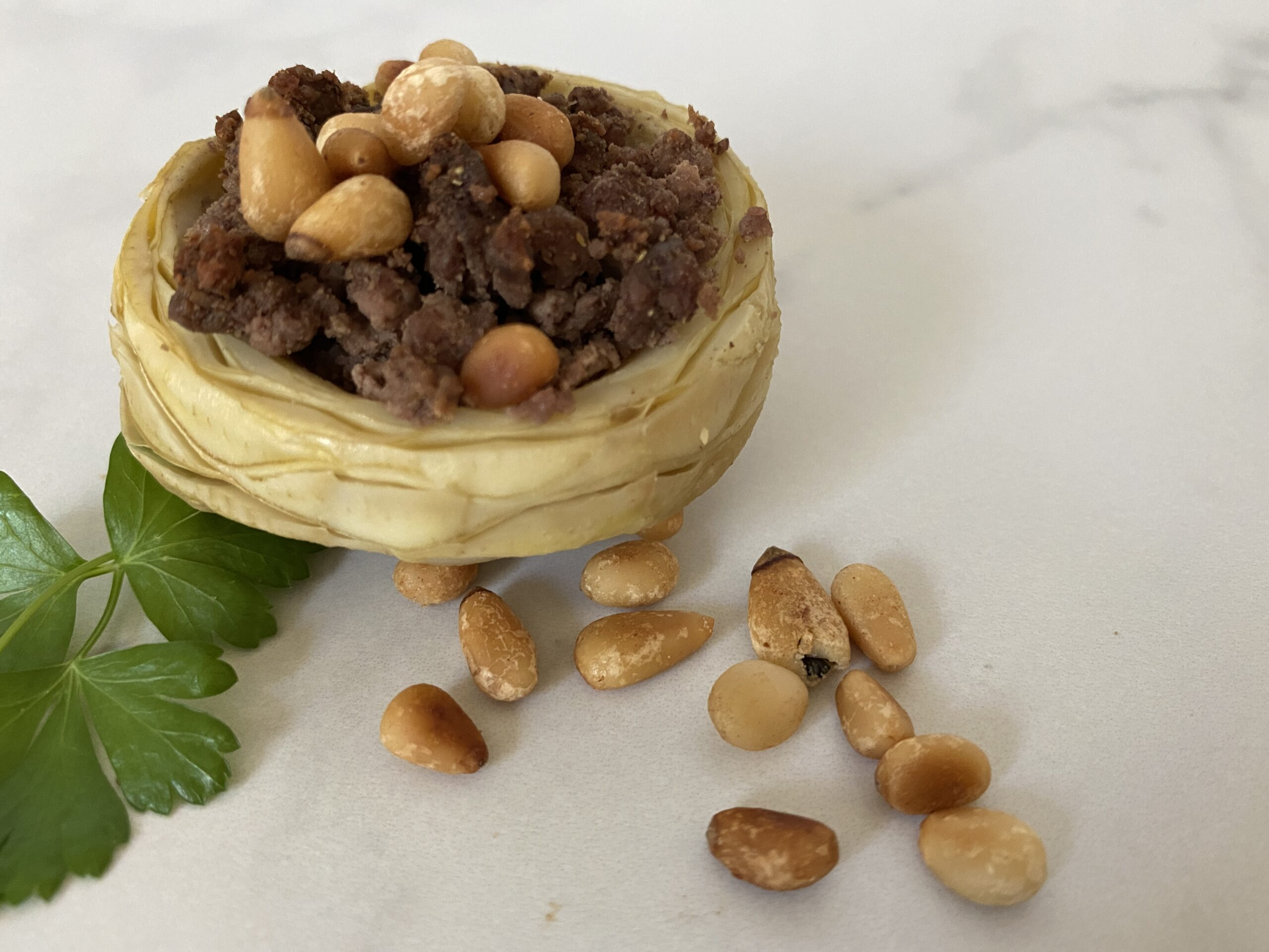 quick and easy artichoke cups with ground beef